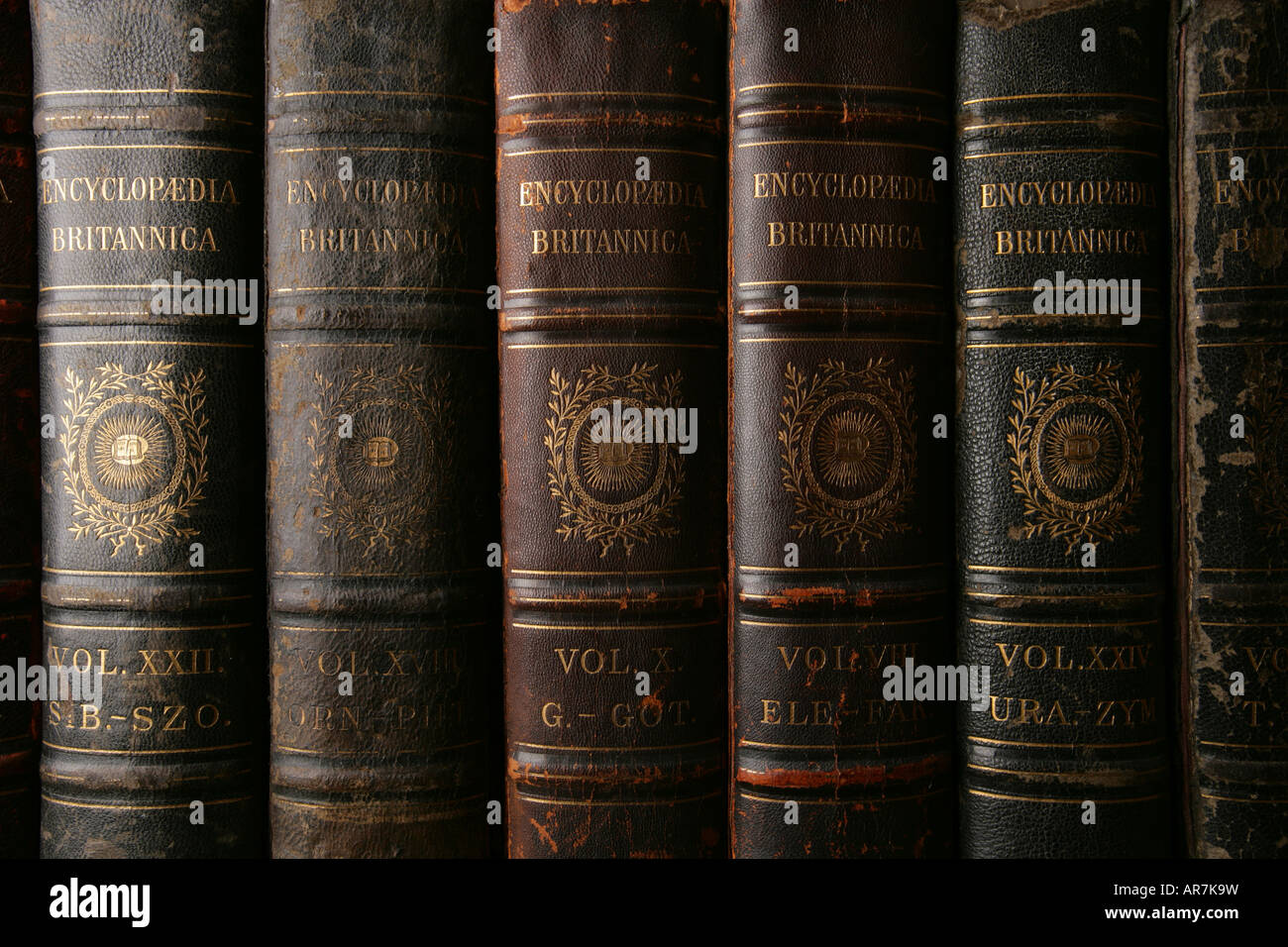 'Antique Encyclopaedia Britannica' - Stock Image