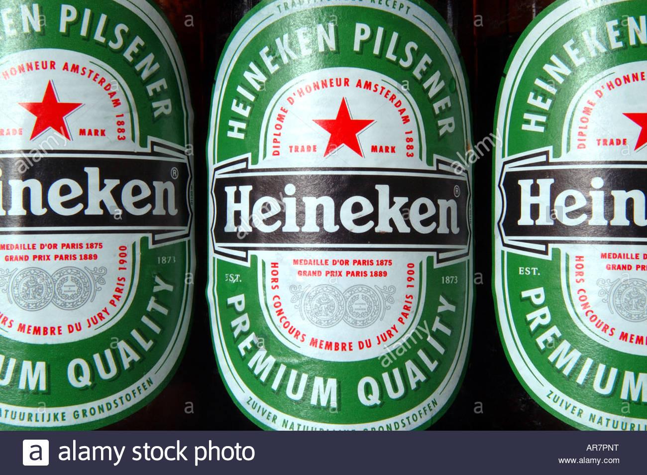 Label Of The Dutch Heineken Pilsener Beer Bottle