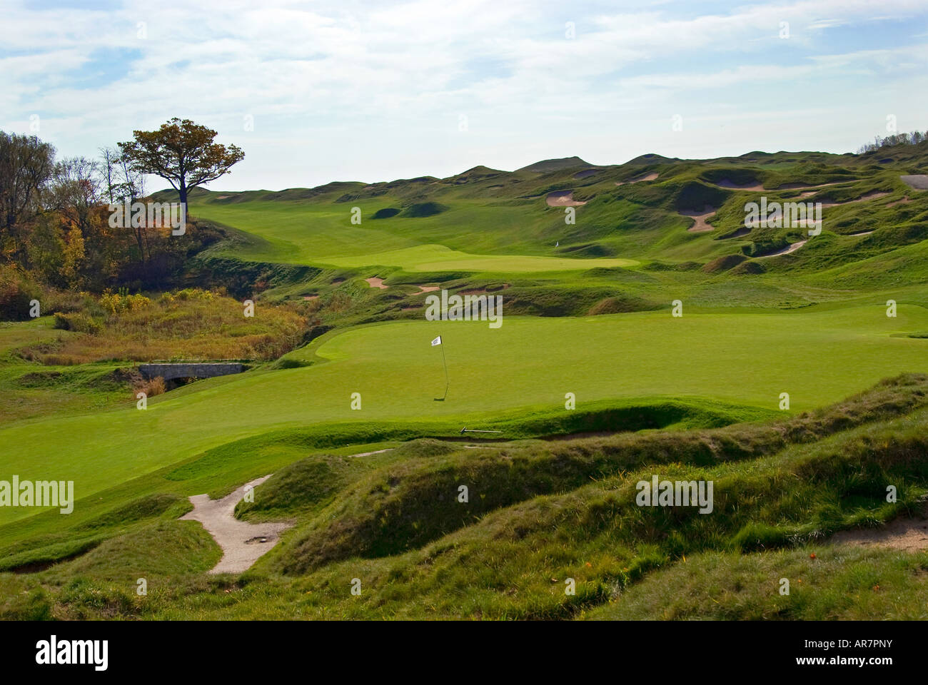 Whistling Straits Golf Course in Kohler, Wisconsin, USA Stock Photo ...