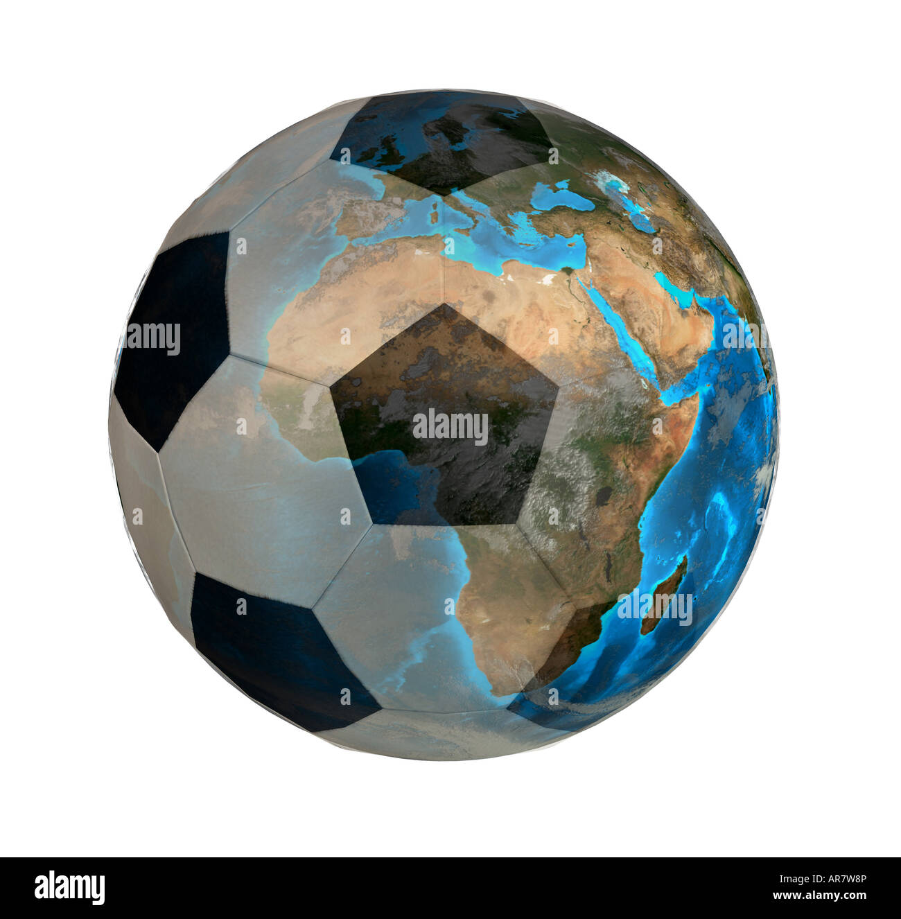 worldwide soccer symbolic image Stock Photo