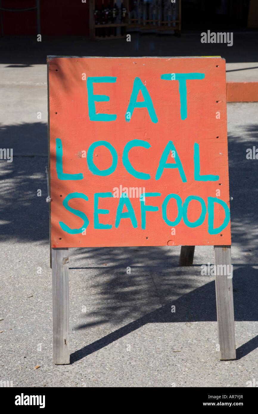 Sign board in Matlacha Florida on the southwestern Gulf Coast of Florida - Stock Image