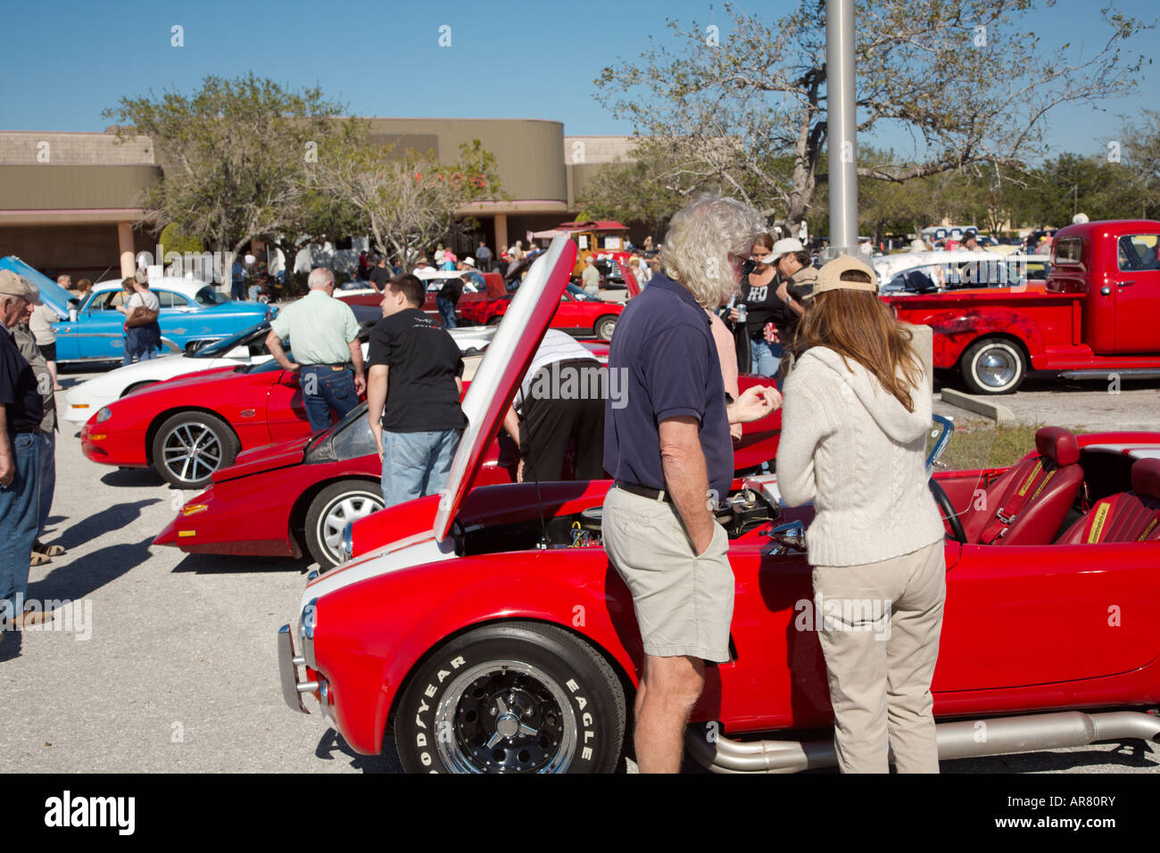 38th annual Devereaux Kaiser Collector car meet Jamunary 27 2008 held in Sarasota Florida - Stock Image