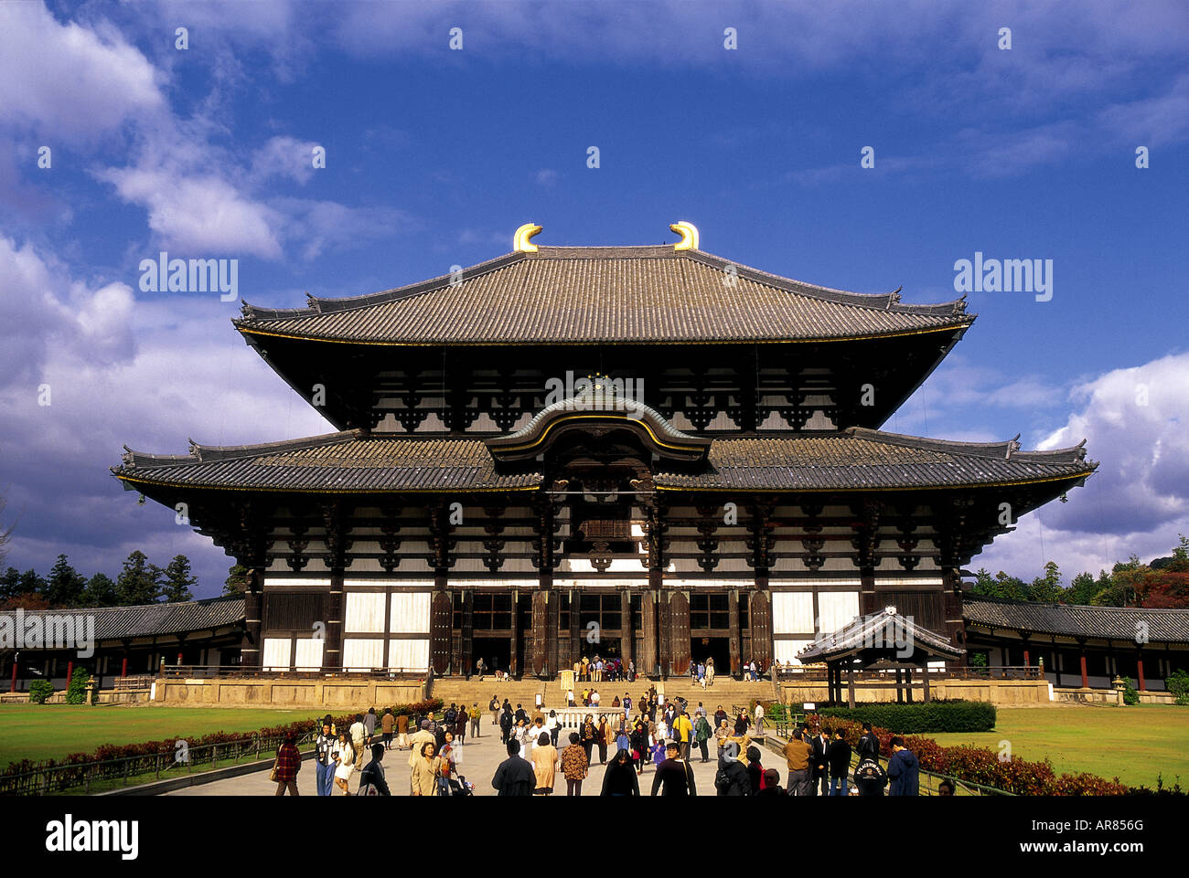 Ancient Todaiji Temple, Nara, considered to be the world's largest wooden building. Stock Photo