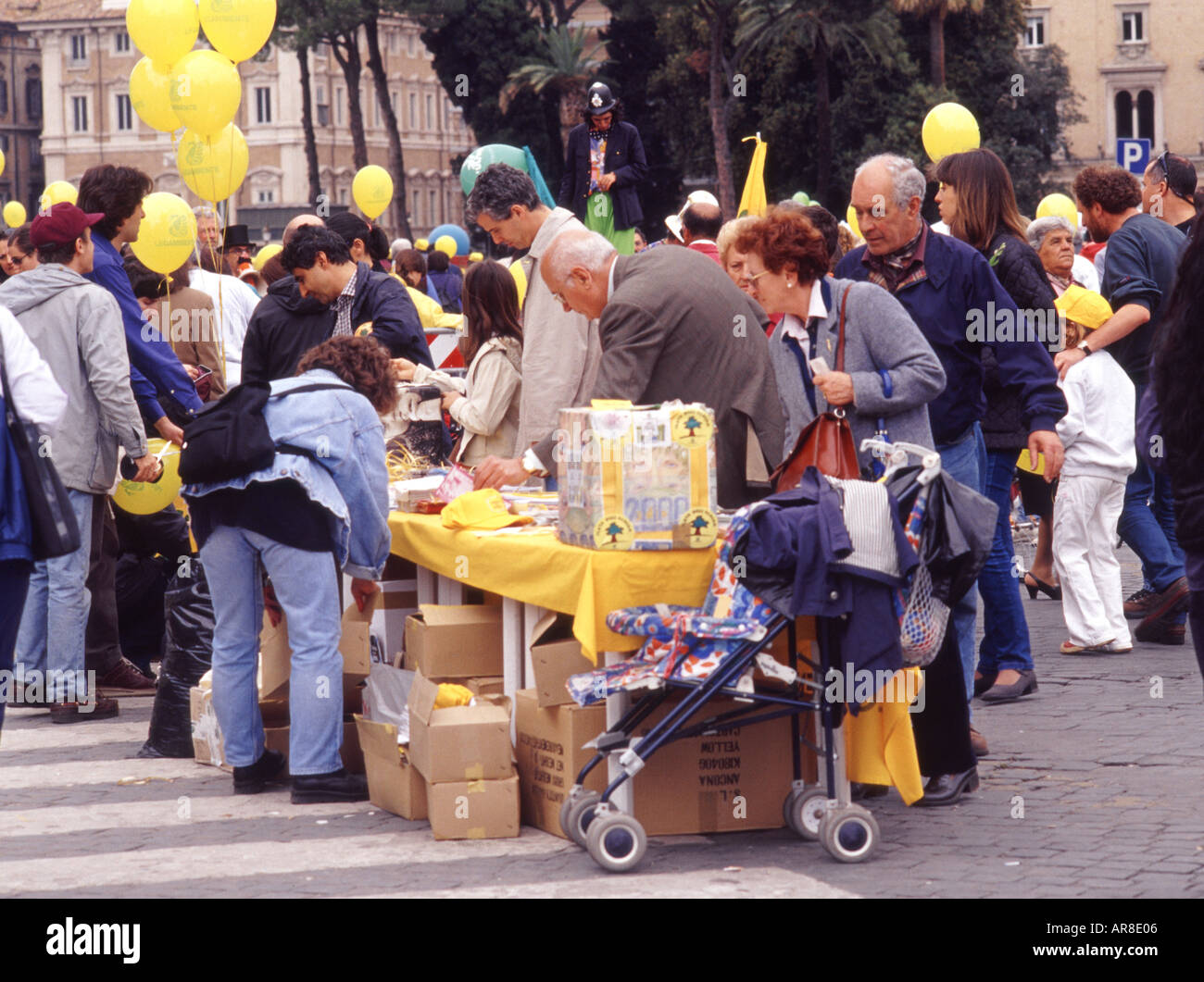 POLITICAL RALLY AND FUND RAISING EVENT ROME ITALY - Stock Image