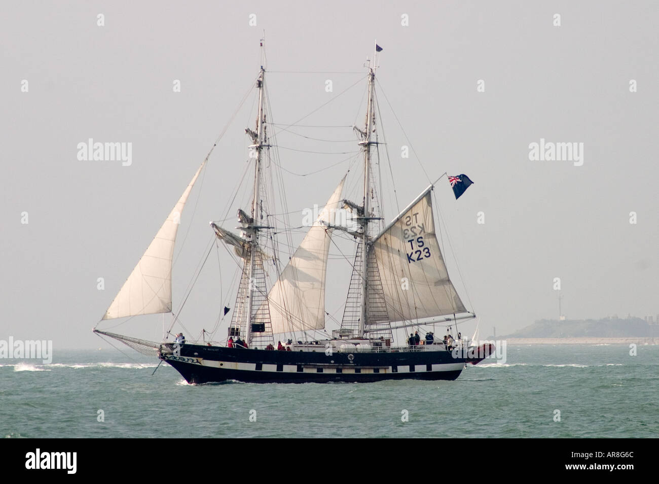 TS Royalist is a 29 metre brigantine - Stock Image