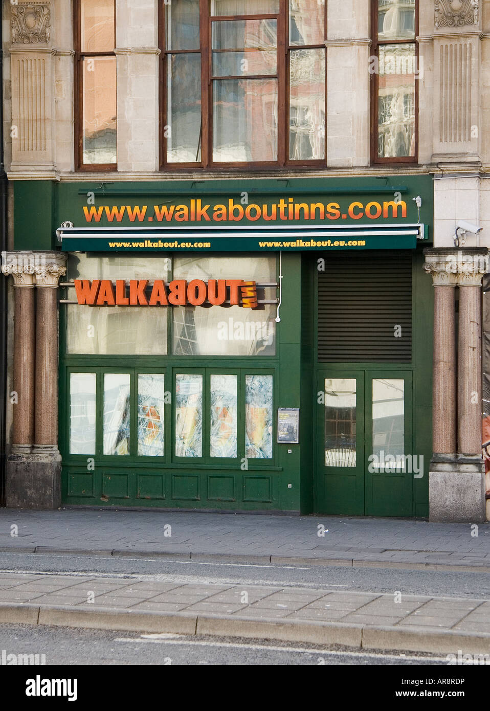 Walkabout Australian themed bar St Mary St Cardiff - Stock Image
