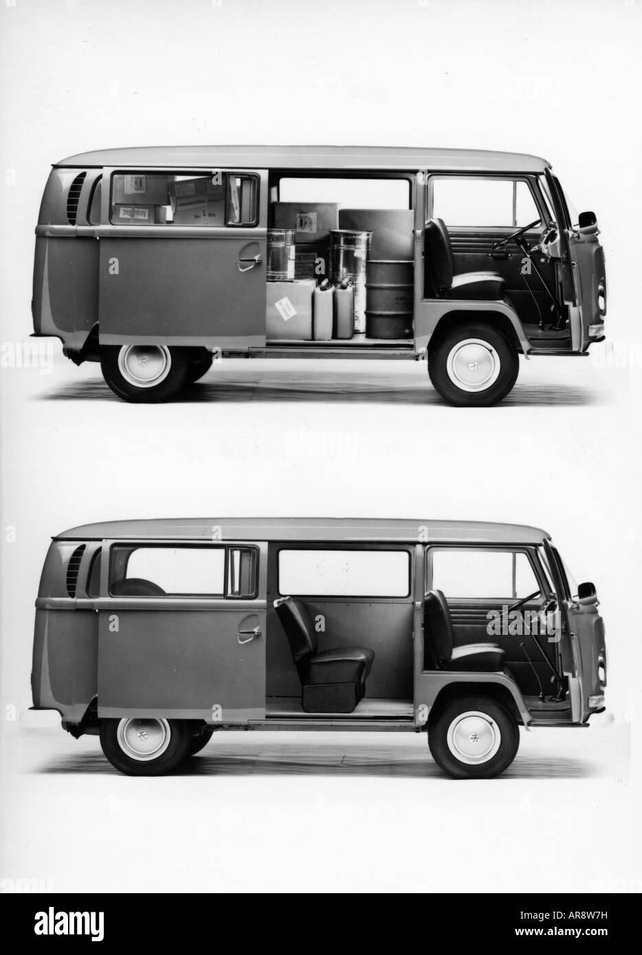 transport / transportation, car, vehicle variants, Volkswagen, VW Type 2, Transporter T2, side view, historic, historical, - Stock Image