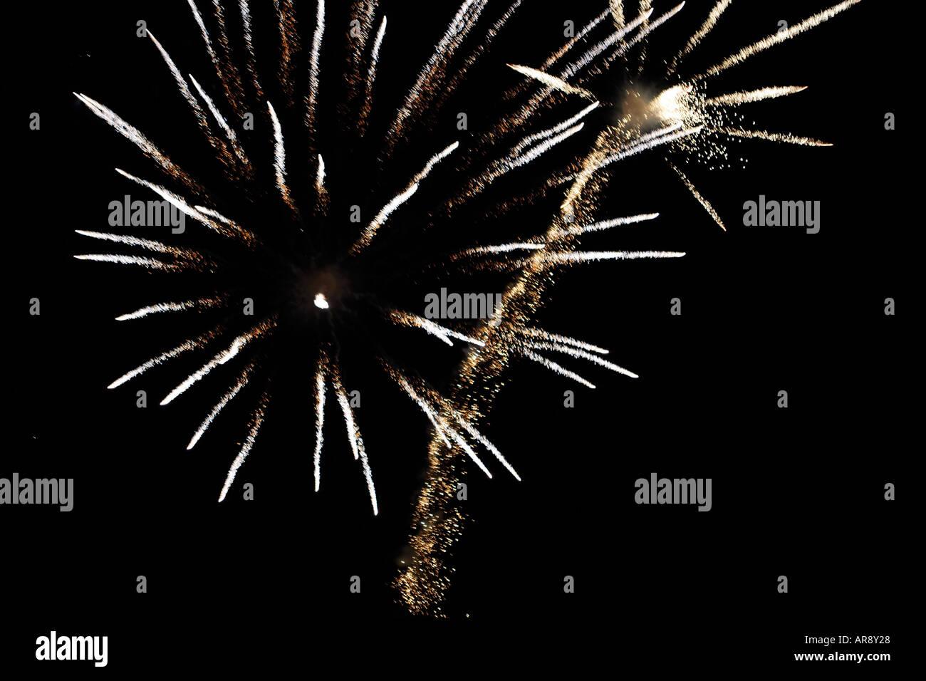 Fireworks 5th November Guy Fawkes Bonfire night UK Stock Photo
