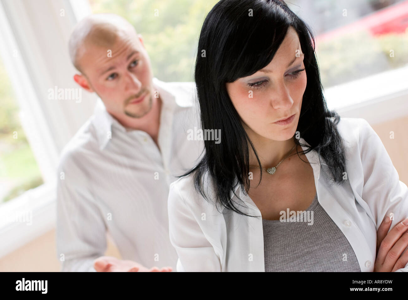 Couple in dispute - Stock Image