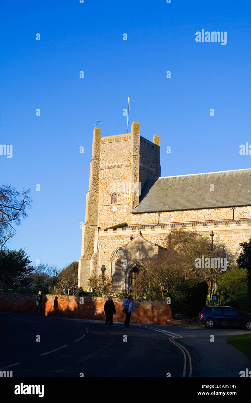 Saxon Cross Saint Bartholomews Church in Orford Suffolk England - Stock Image