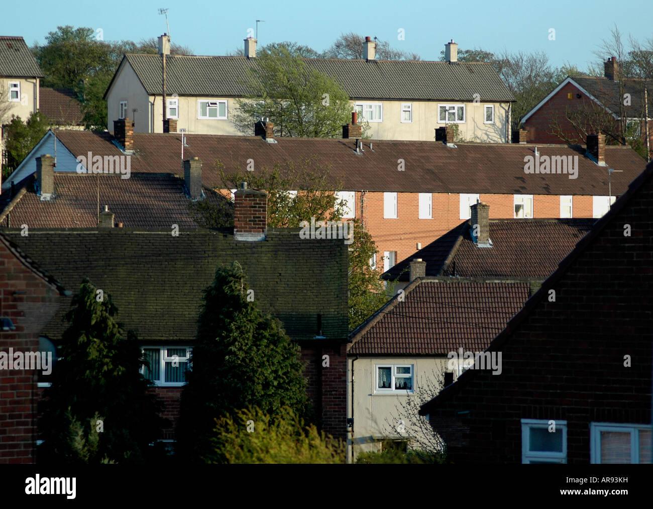 Council Housing, Leeds - Stock Image