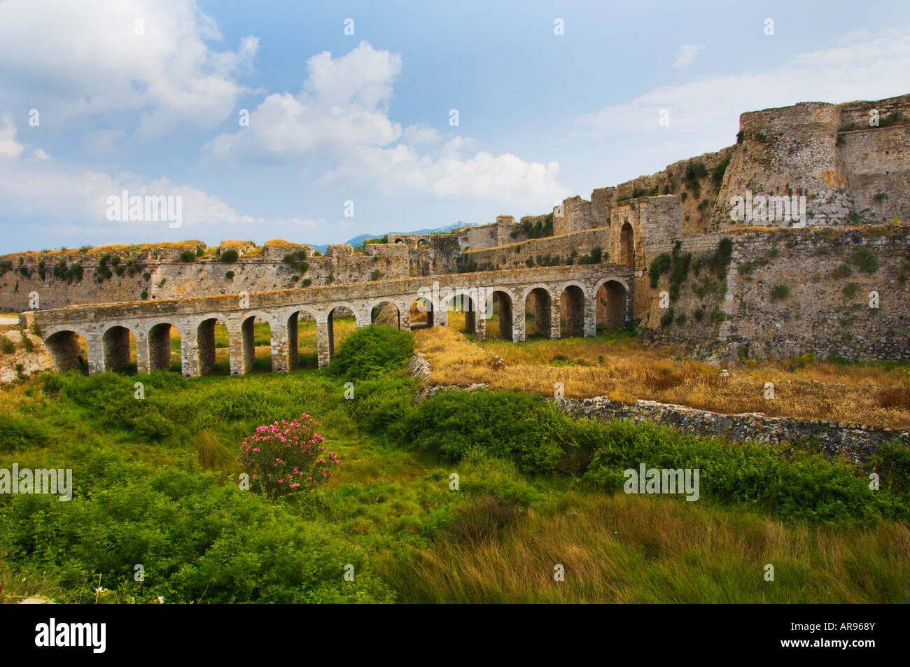 A 15th century Venetian fortress at Methoni Messinia Peloponesse Greece - Stock Image