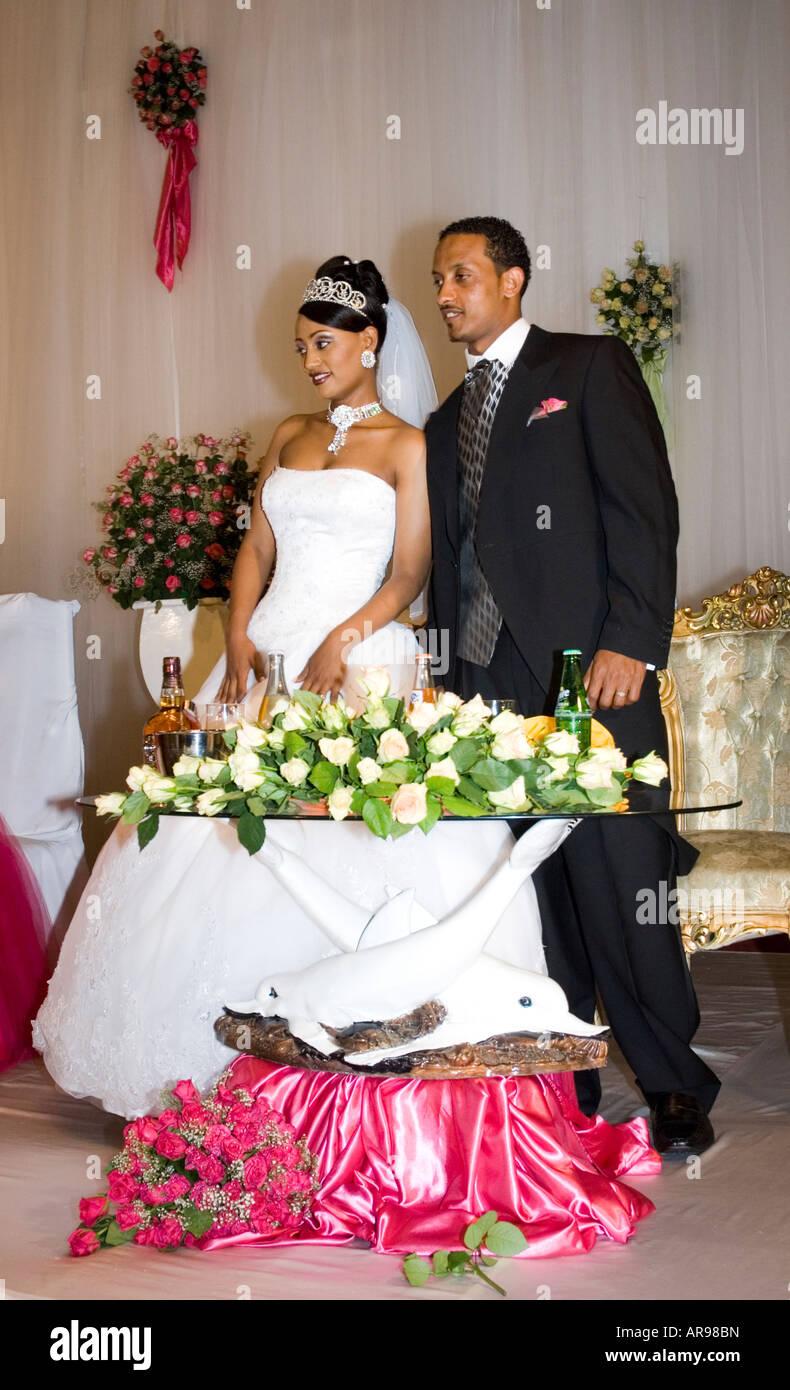 Ethiopian Bride Groom Wedding Reception Stock Photos & Ethiopian ...