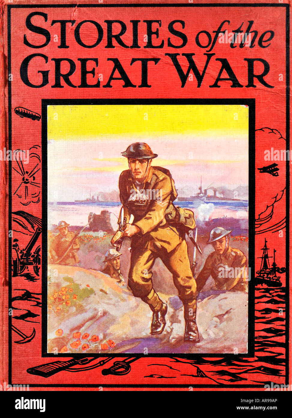Stories of the Great War Children's book 1920s EDITORIAL USE ONLY - Stock Image