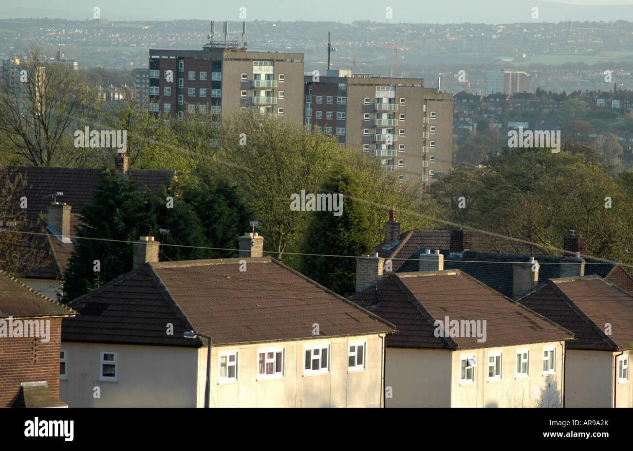 Council Housing, Seacroft, Leeds - Stock Image