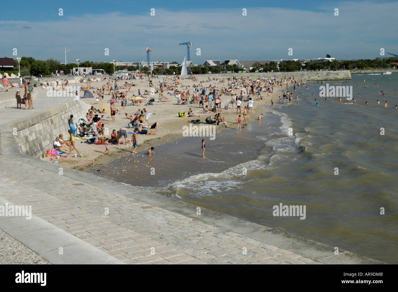 Beach at La Rochelle - Stock Image