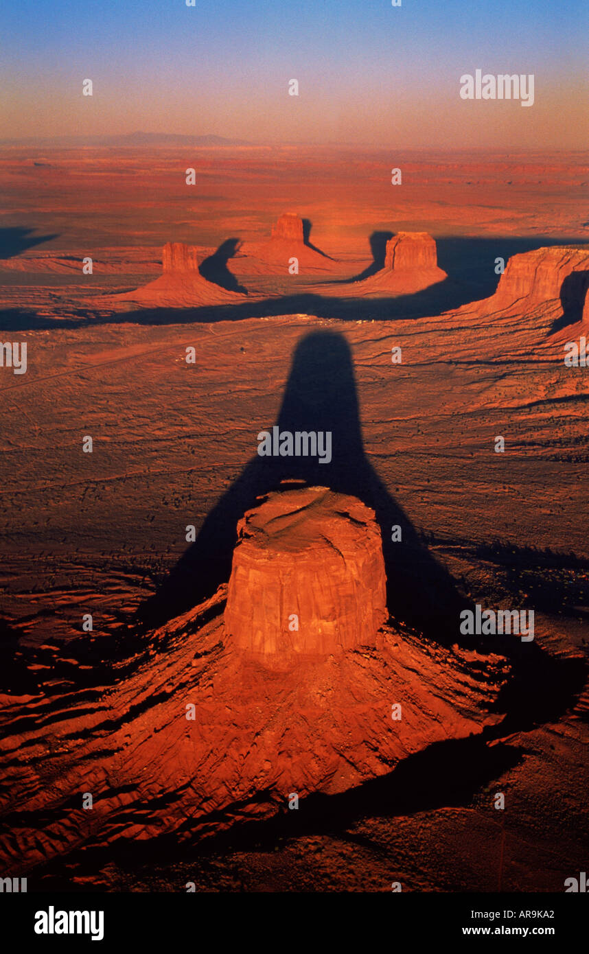 aerial view of Monument Valley, Arizona, USA at sunset ...