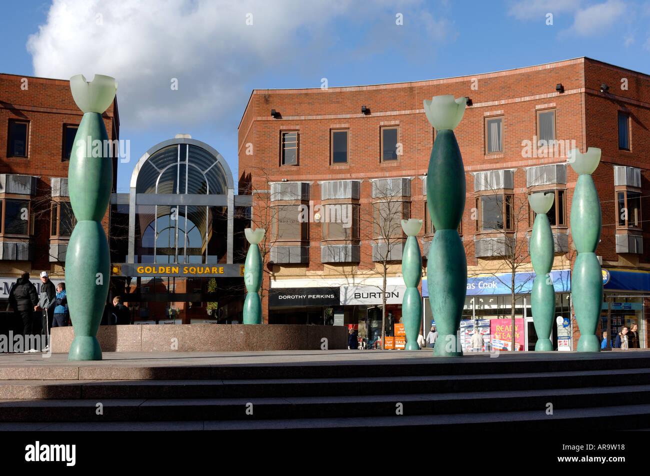 Market Gate Square Warrington Cheshire England UK - Stock Image