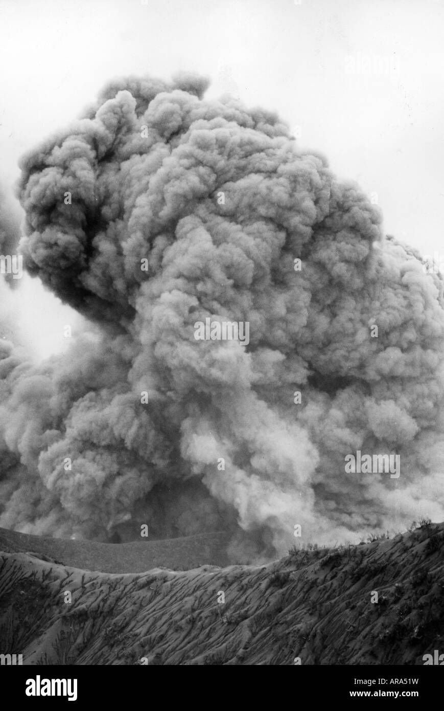 geography / travel, Costa Rica, natural disaster / catastrophe, volcanic eruption of Irazu volcano, crater, 1963, - Stock Image