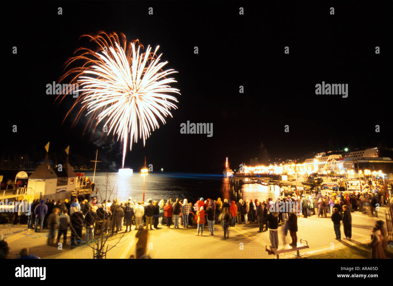 Queenstown Winter Festival South Island New Zealand Stock Photo