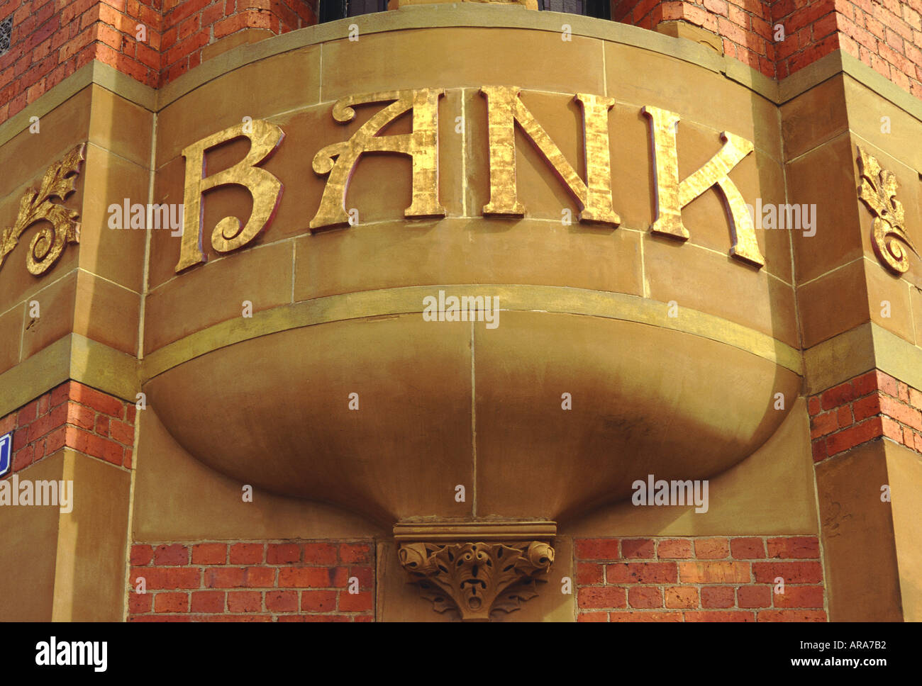 Old bank signage - Stock Image