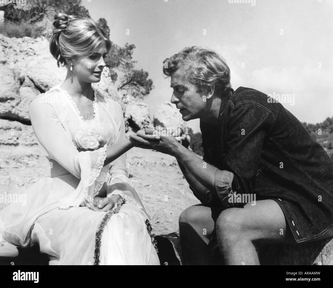 movie, 'The Magus', GBR 1968, director: Guy Green, scene with: Candice Bergen and Michael Caine, Third-Party - Stock Image