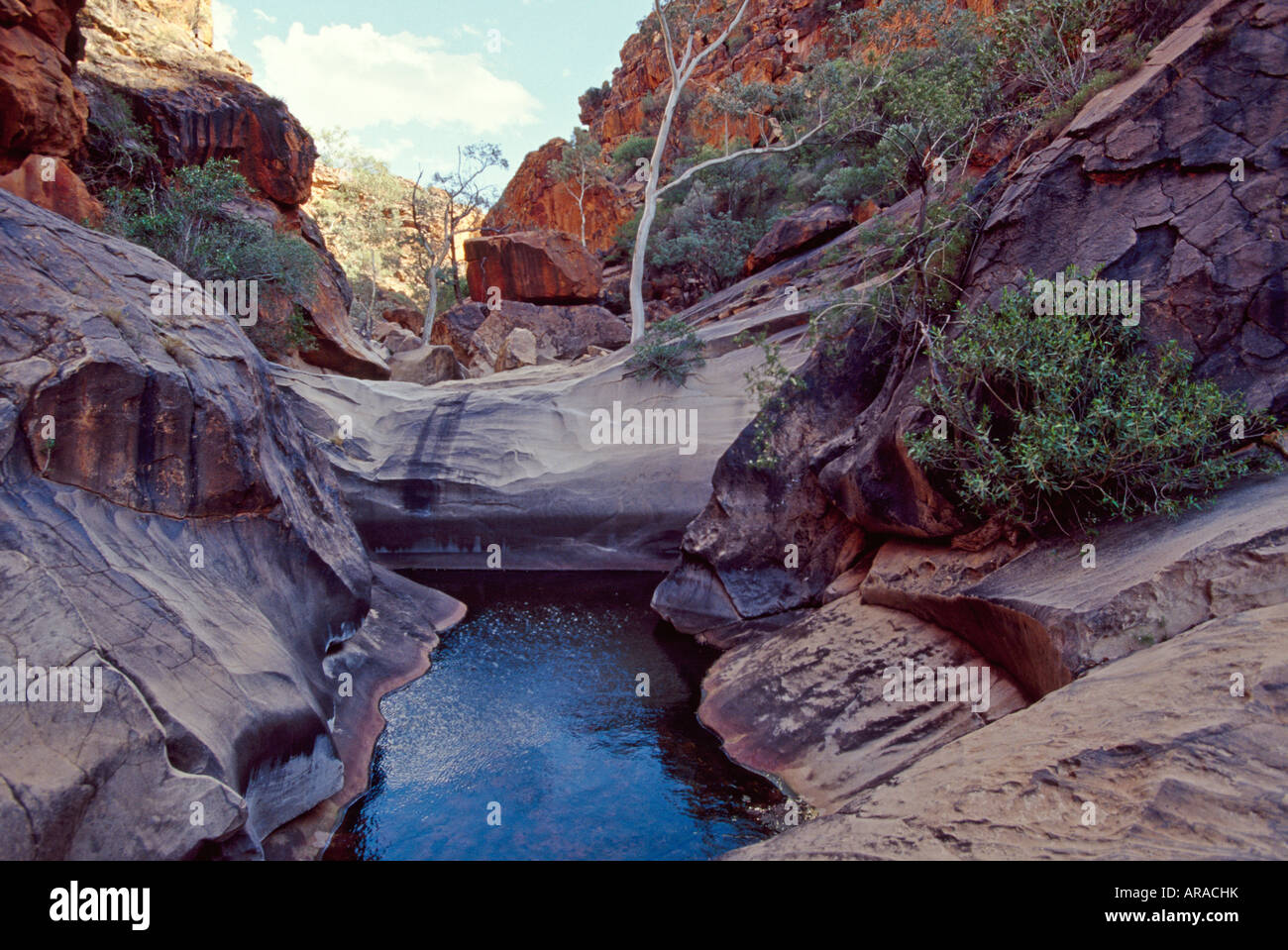 Roma Gorge West Macdonnell Ranges National Park Northern Territory Australia - Stock Image