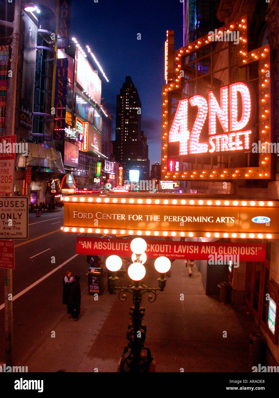 The Ford Theater on 42nd St in Times Sqaure  - Stock Image