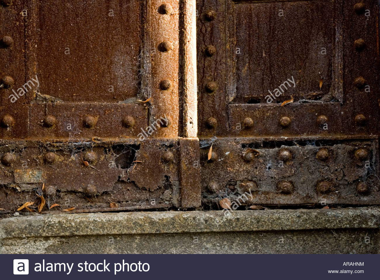 Some Rotten Old Gothic Iron Doors Background And Texture