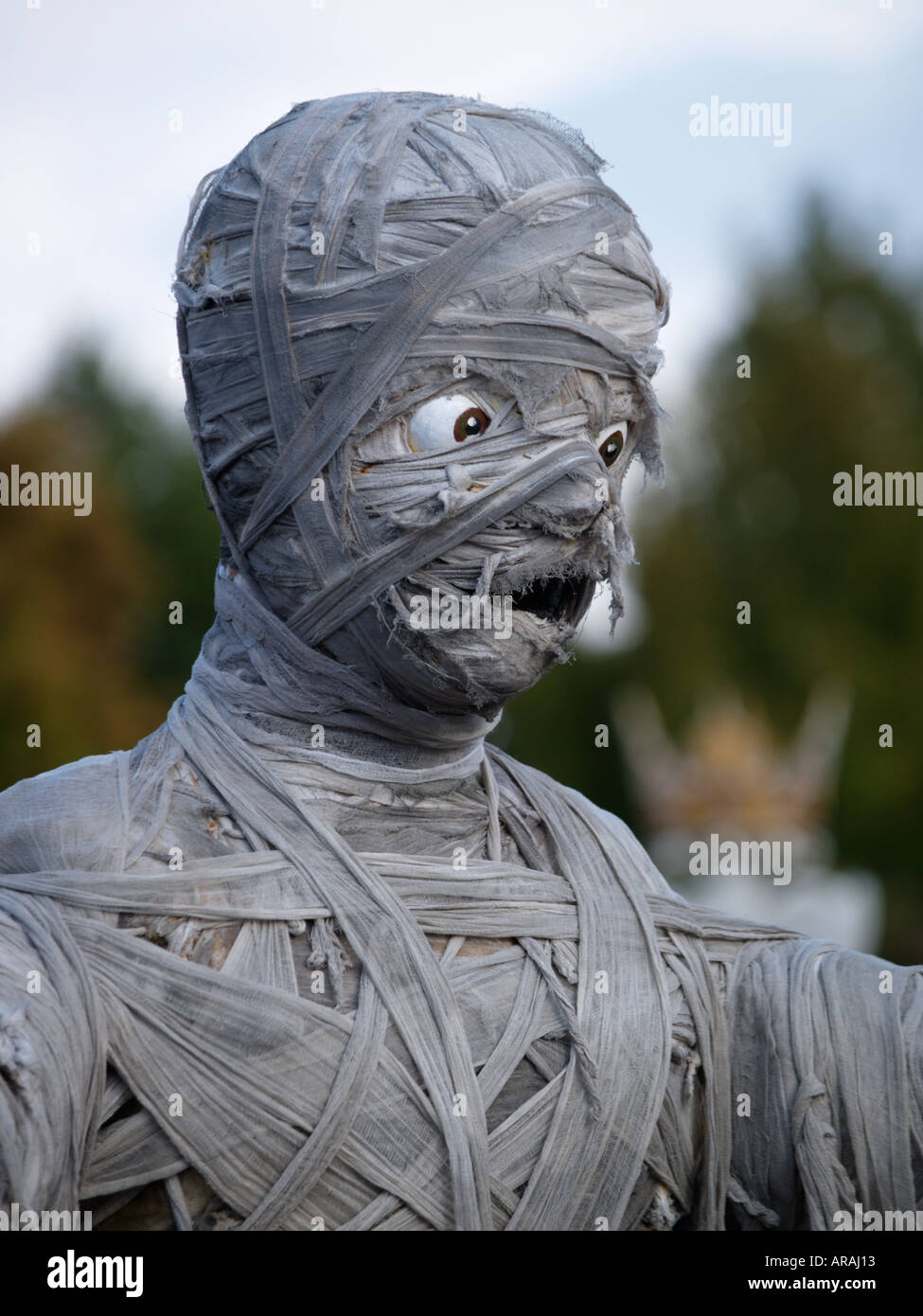 Mummy character in Eurodisney Paris France shot during the halloween season parade - Stock Image
