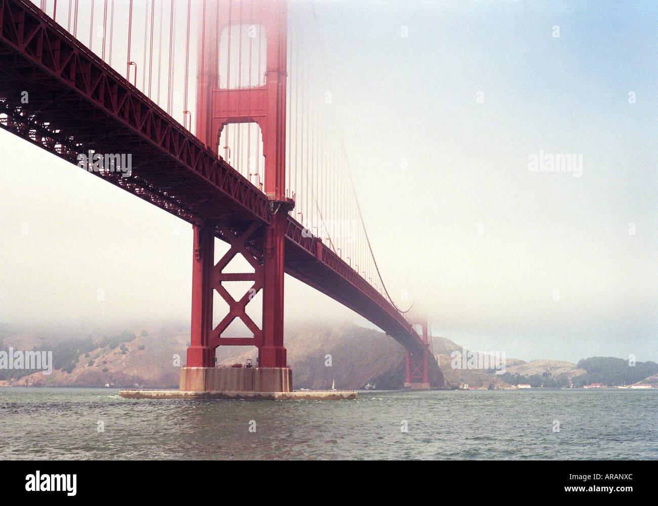Golden Gate Bridge in San Francisco California - Stock Image