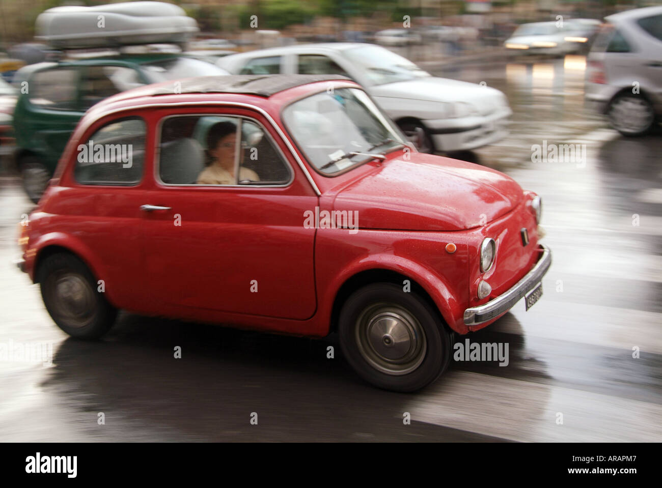 Fiat 500 Italian Small Car City Small Tiny Little European