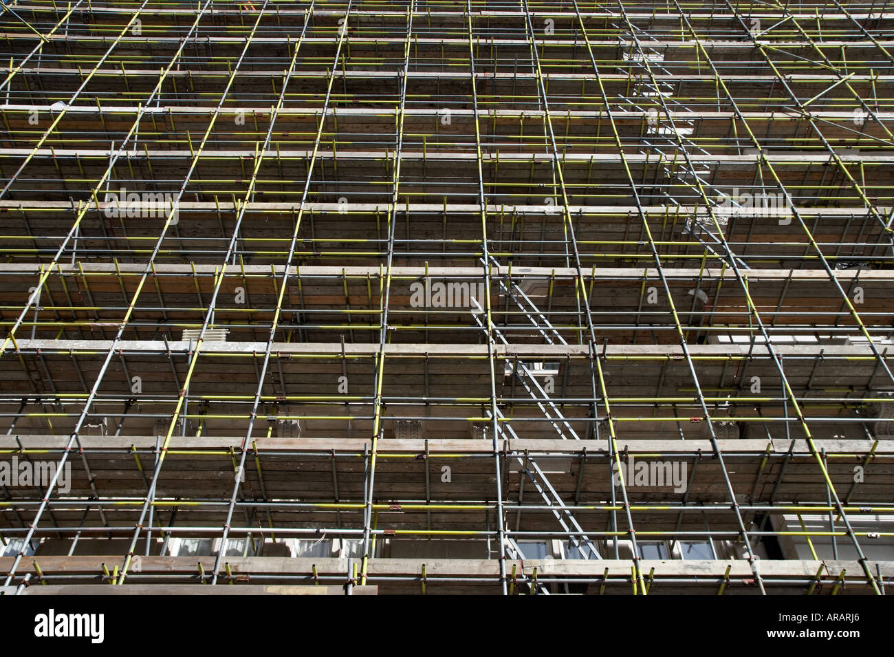 building scaffolding - Stock Image