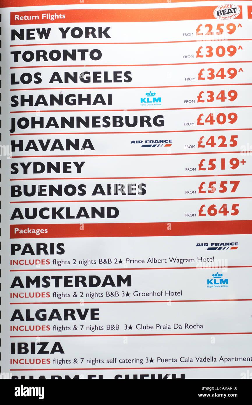 Cheap flights - Stock Image
