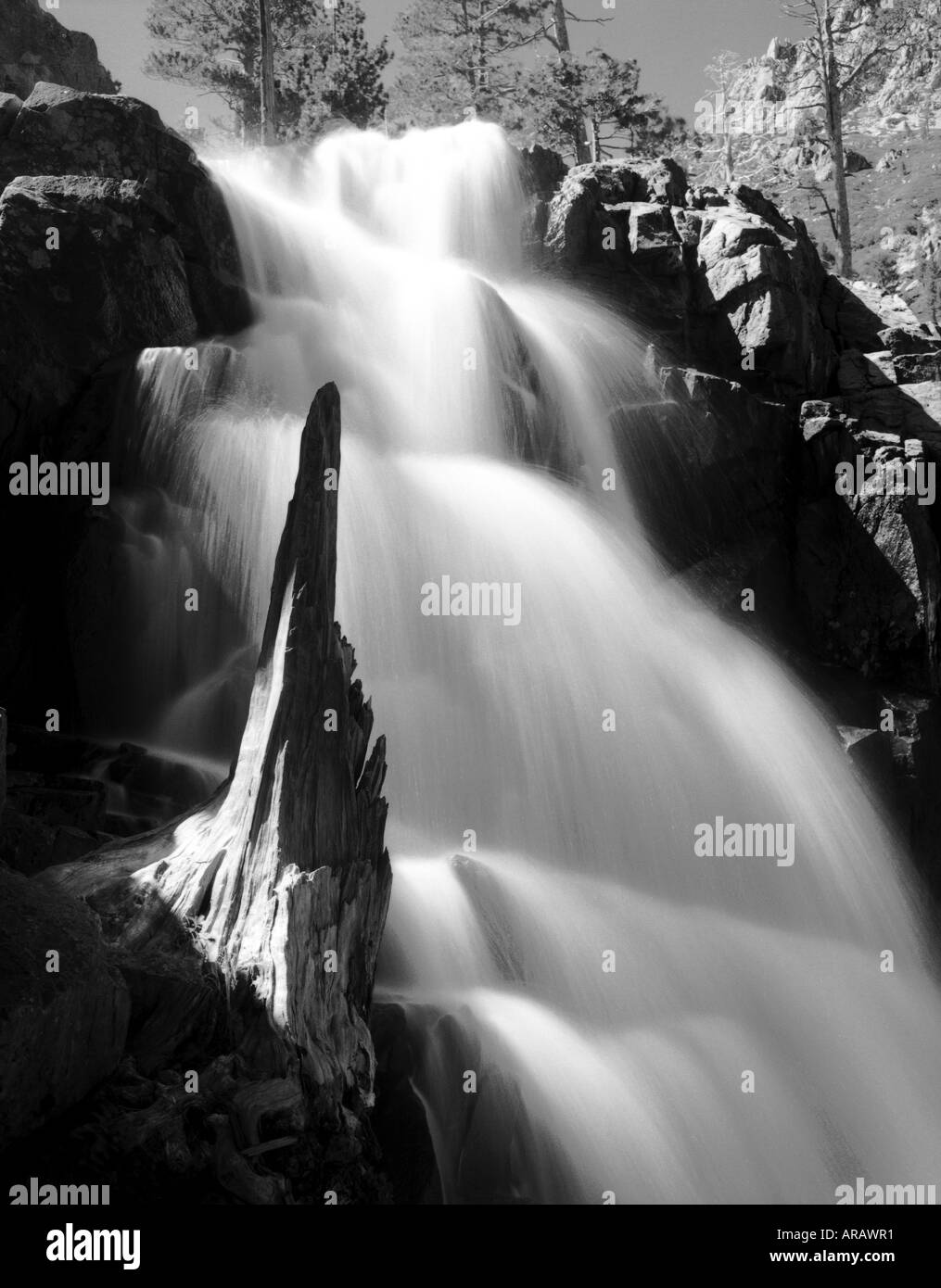 Lower Eagle Falls South Lake Tahoe Eldorado County California USA - Stock Image