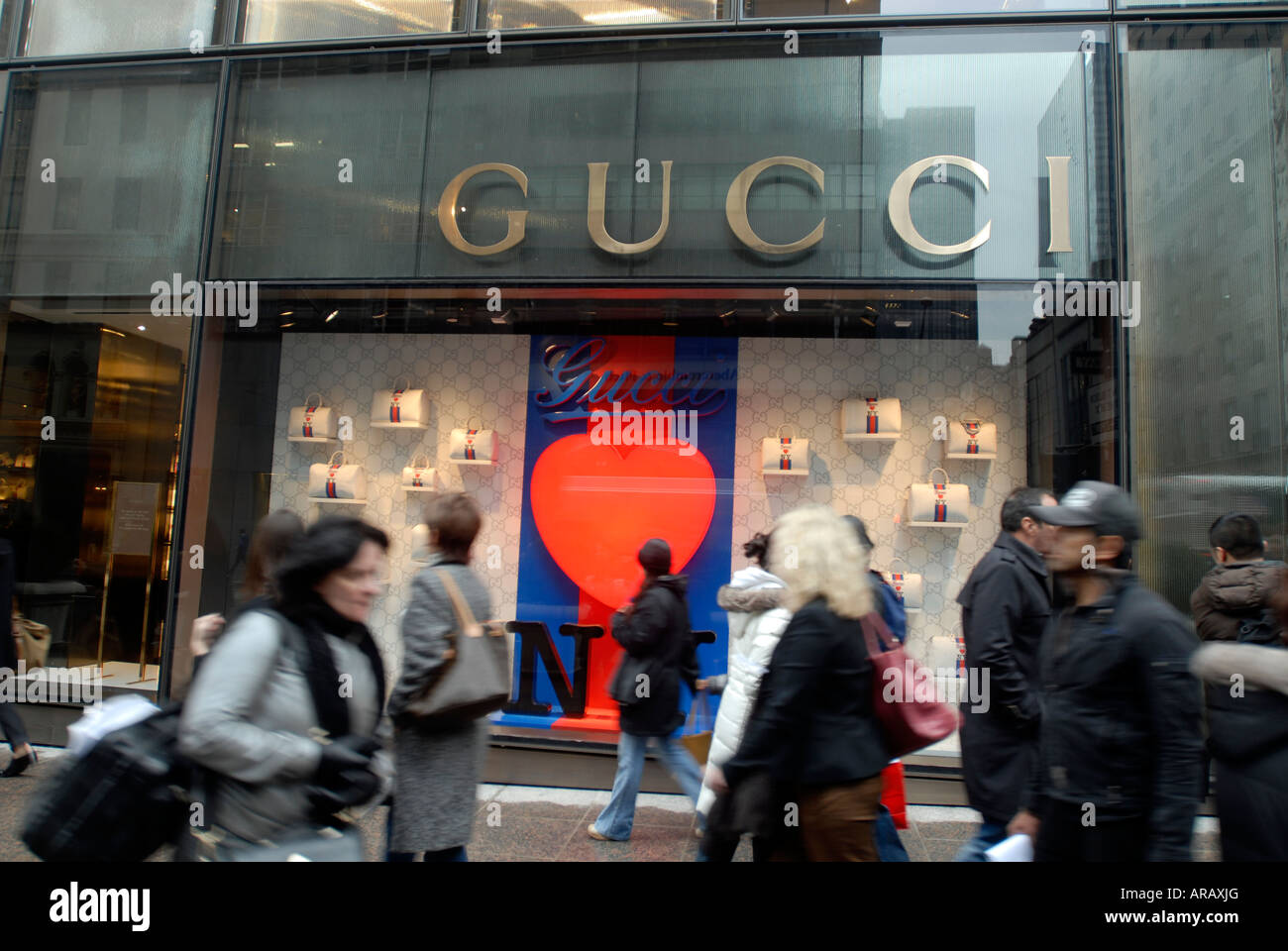 9a3080977b The new Gucci store in Trump Tower on Fifth Ave featuring the Gucci Loves NY  handbag