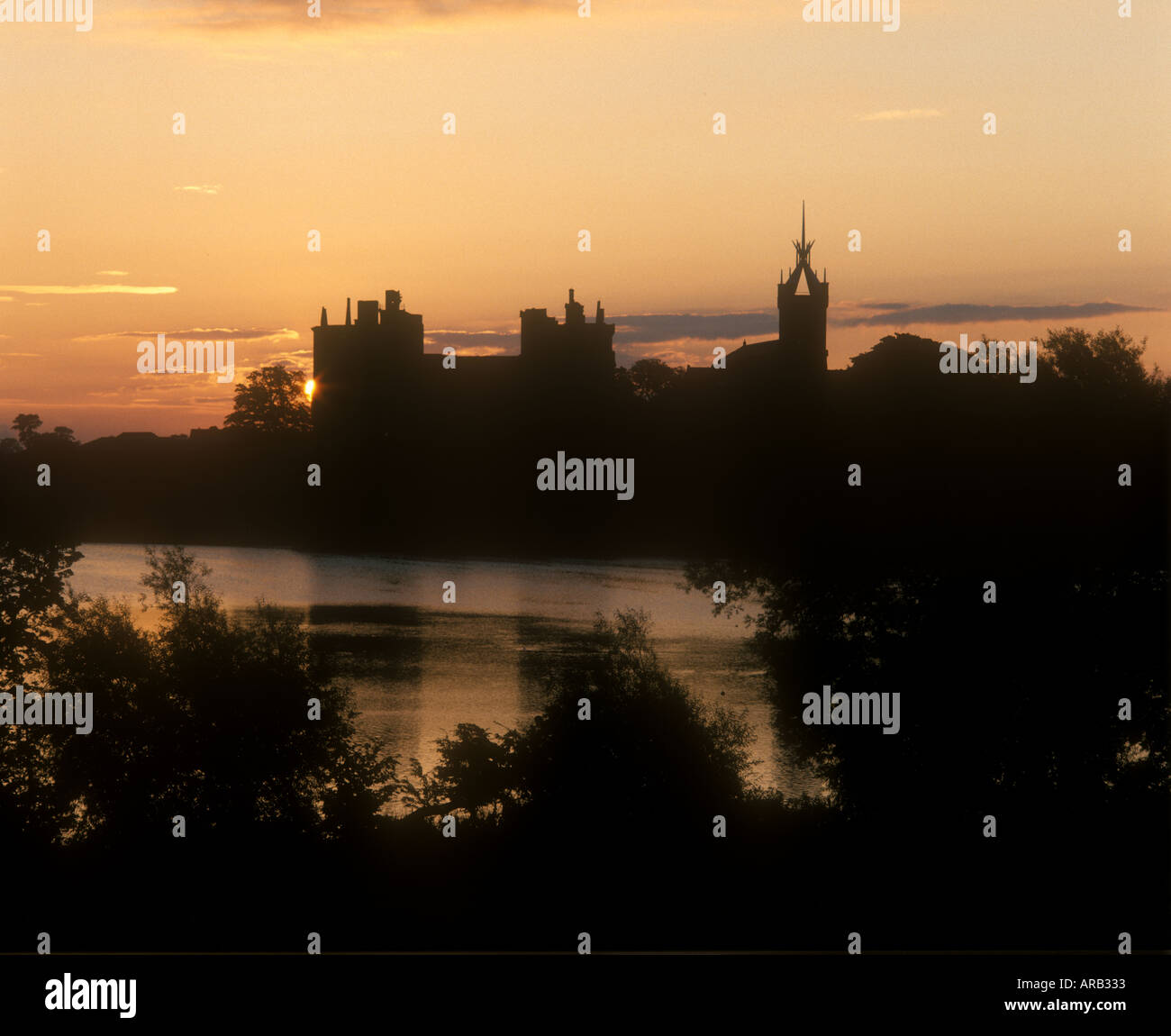 Linlithgow Palace at dawn Linlithgow West Lothian Scotland Stock Photo