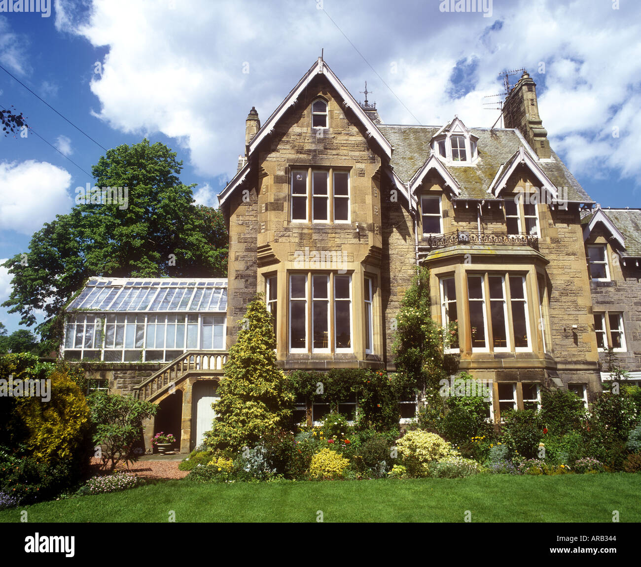 Country Style Home Plans Victorian Mansion House Edinburgh Scotland Stock Photo
