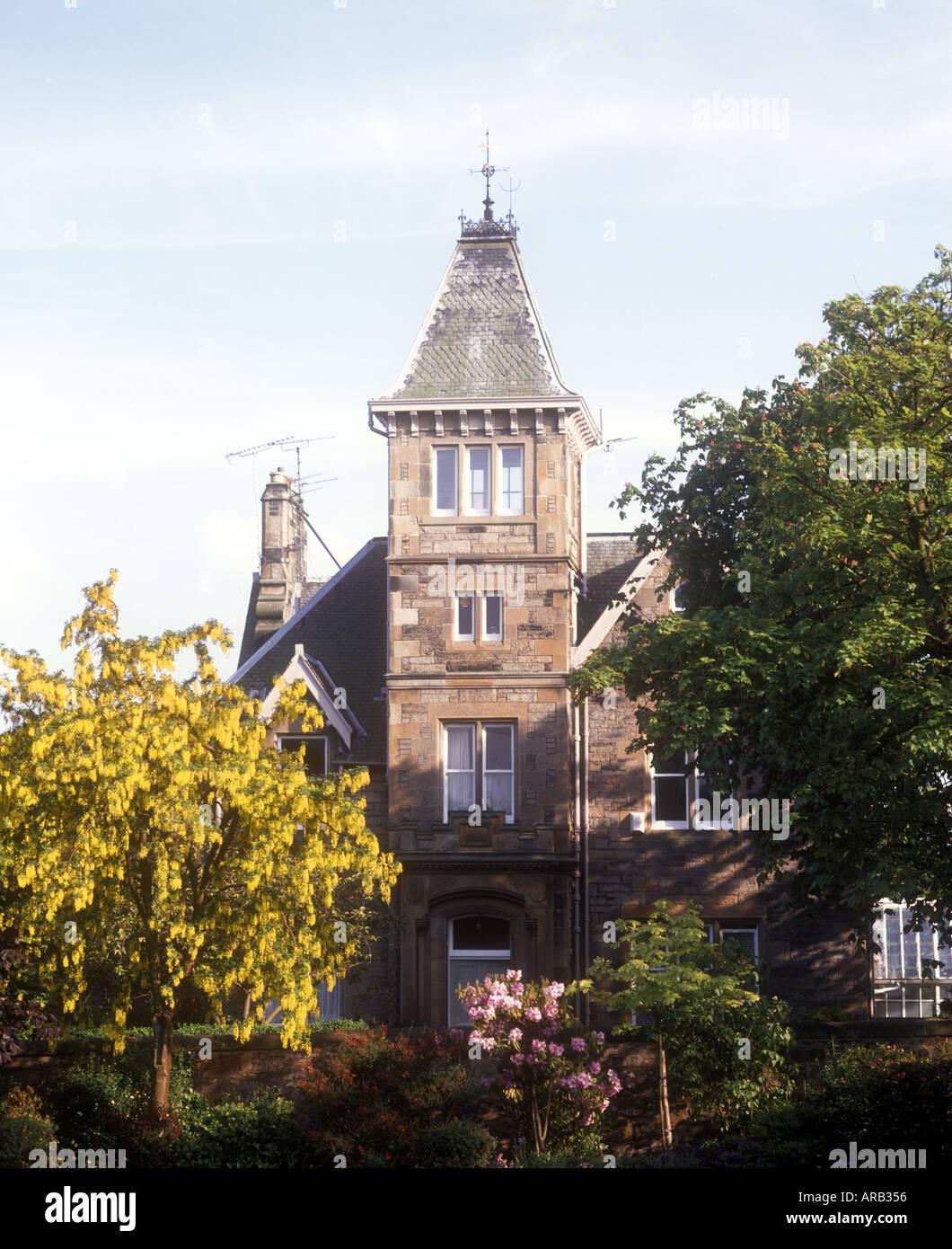 Victorian mansion house Edinburgh Scotland - Stock Image