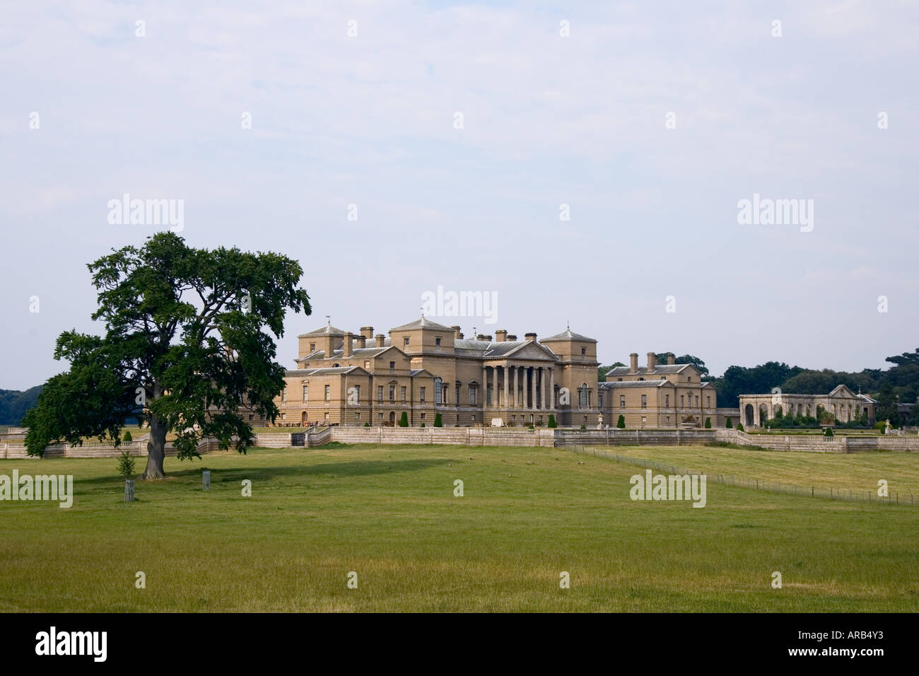 Holkham Hall home of the Earl and Countess of Leicester Norfolk United Kingdom - Stock Image