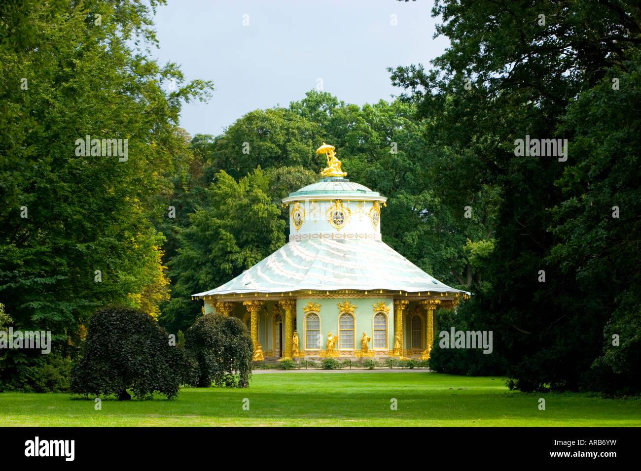 Chinese Tea House Park Sanssouci Potsdam Brandenburg Germany - Stock Image