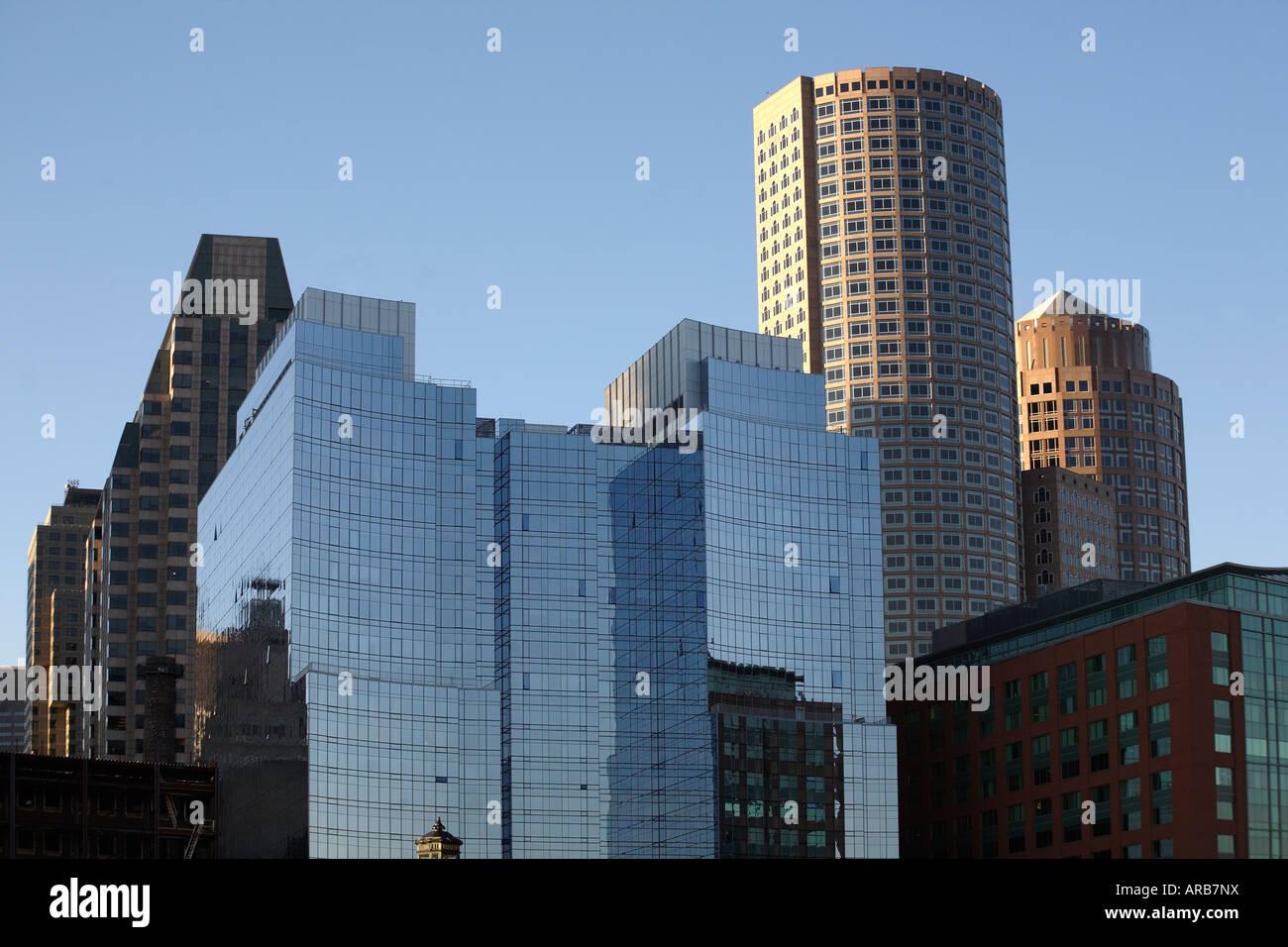 Skyscrapers. Boston, Massachusetts, USA - Stock Image