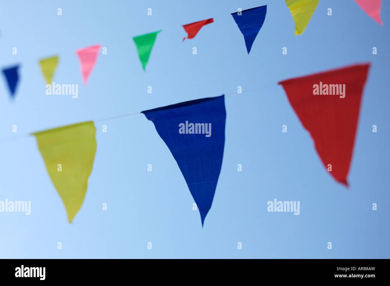 Colourful bunting - Stock Image