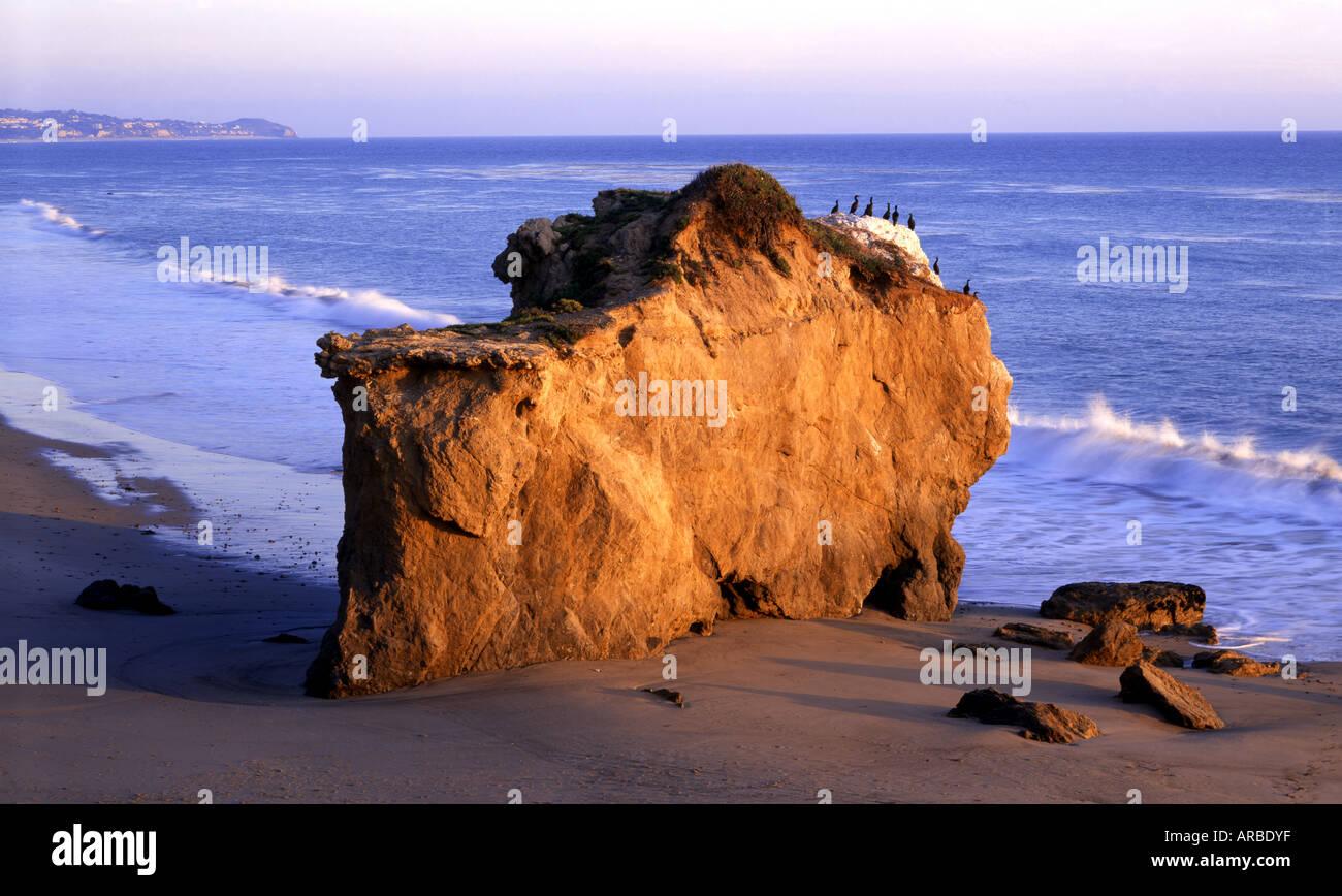 Protruding Rocks At El Matador State Beach Malibu Los Angeles County California USA - Stock Image