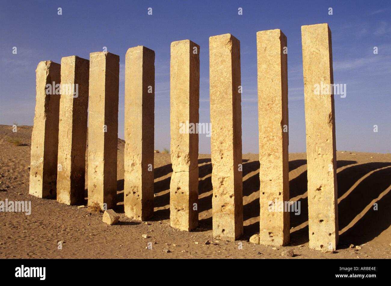Republic of Yemen Marib Awwam temple Copyright Sergio Pitamitz - Stock Image