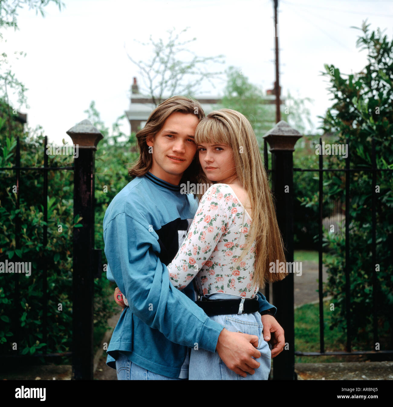 Sid Owen and Danniella Westbrook on the BBC Eastenders set in England in Great Britain in the United Kingdom - Stock Image