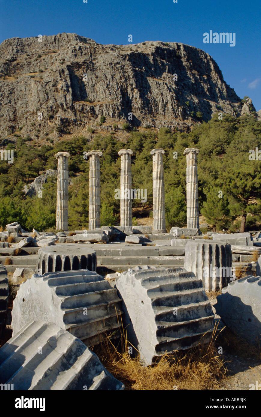 Temple of Athena, Priene, Anatolia, Turkey, Asia Minor, Asia Stock Photo