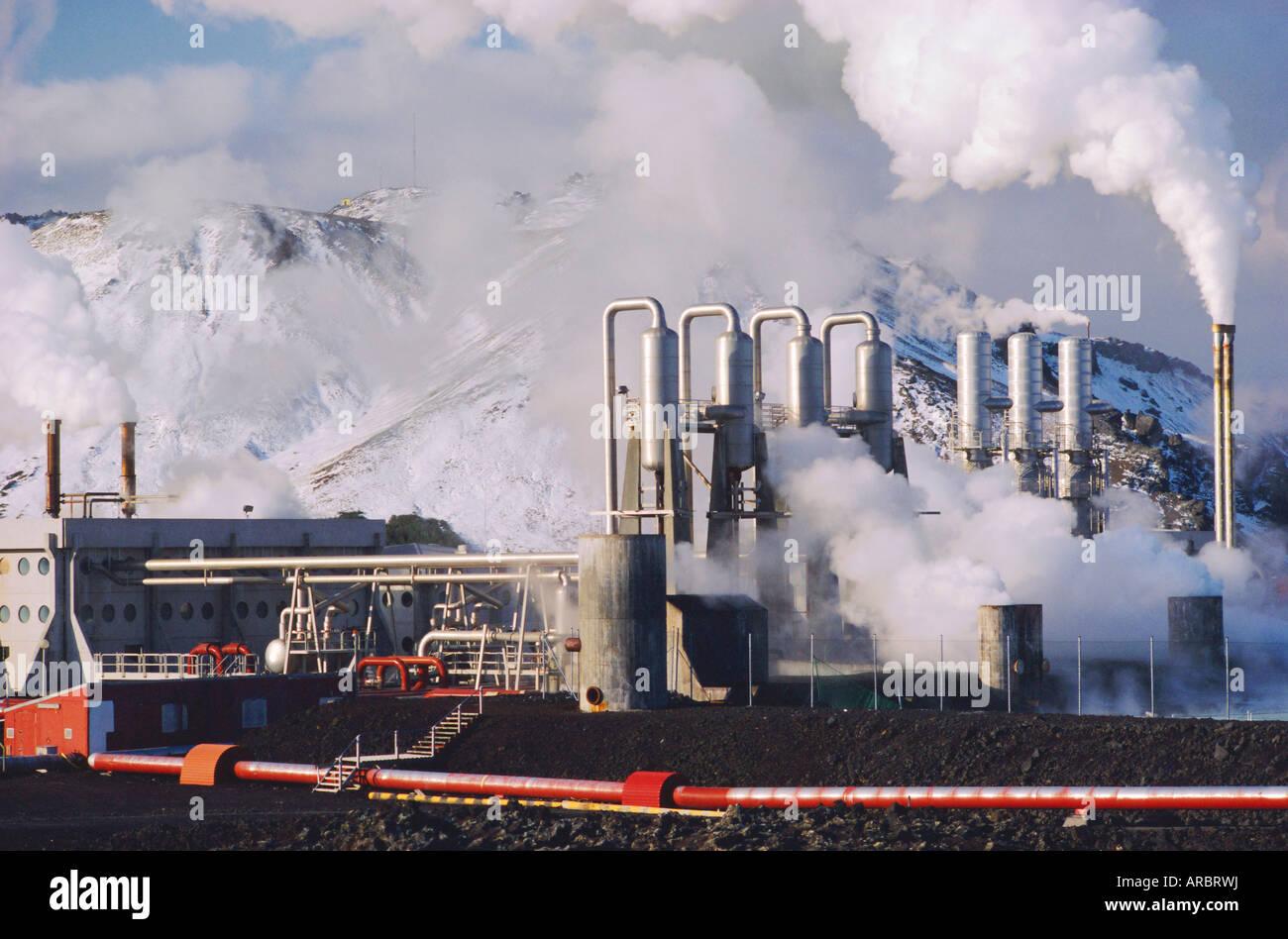 Geo-thermal power plant, Svartsengi, Iceland Stock Photo