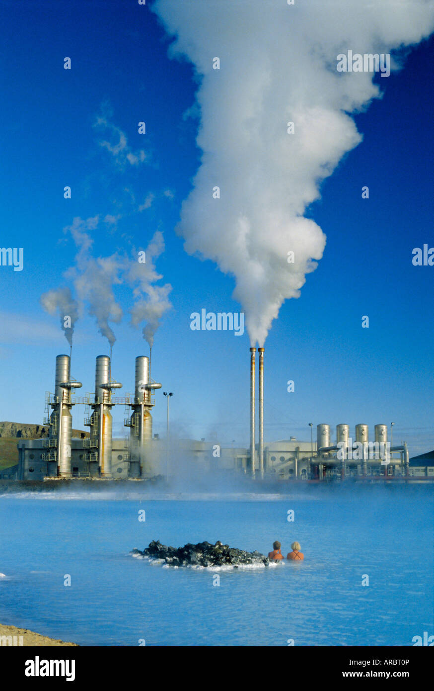 bd7e4286 Geo thermal power plant in Svartsengi (Black Field) area, Iceland ...