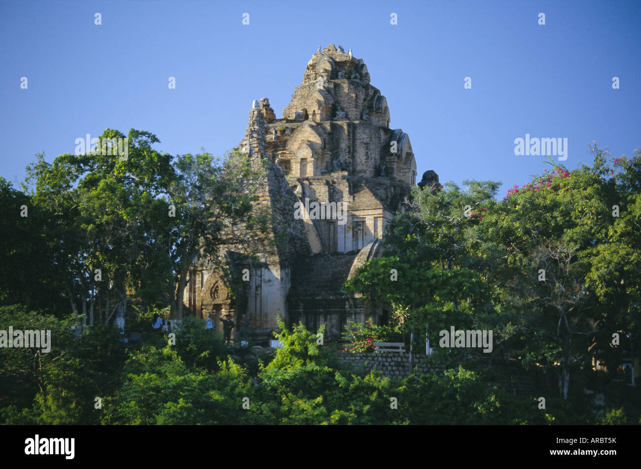 Cham Towers of Po Nagar, built between 7th and 12th centuries by the Cai River, Nha Trang, Vietnam, Indochina, Southeast - Stock Image